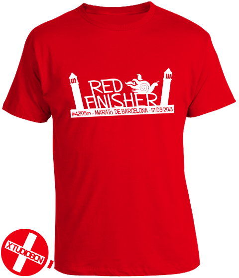Camiseta Finisher Red Runners Marató Barcelona