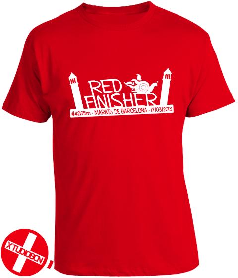Camiseta Finisher Red Runners Marató Barcelona
