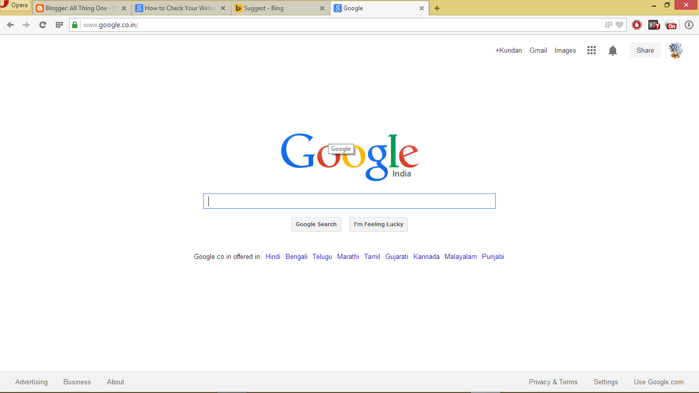Google In Chrome Windows