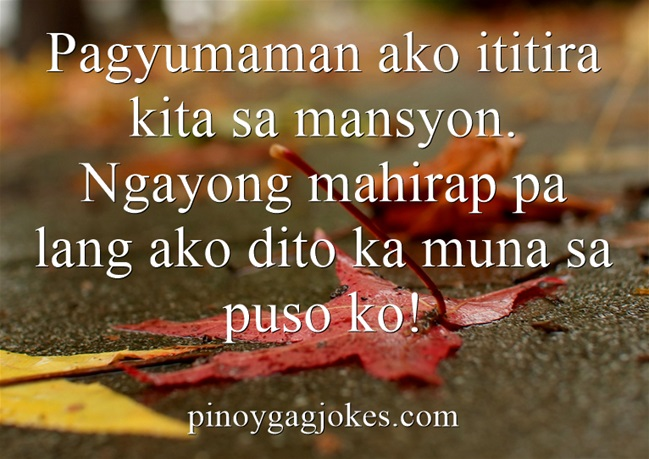 pinoy funny banat love qoutes about  heart pick up lines