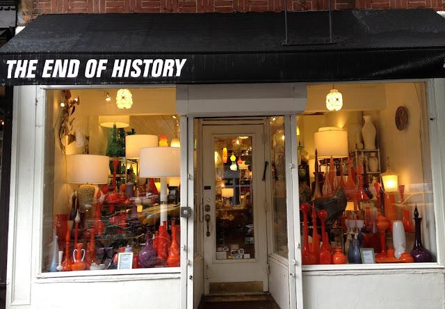 The End of History, NY NY, Vintage Mid-Century Glass