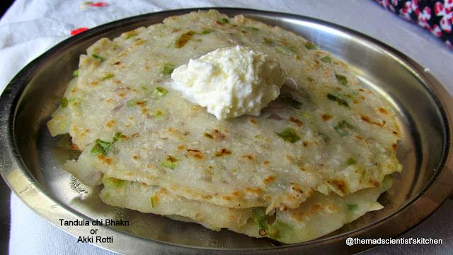 Indian Flat-bread Akki Bhakari/ Akki Rotti/ Tandula-chi-Bhakari