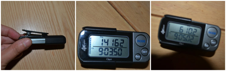 Ozeri 4x3sport Digital Pocket 3D Pedometer with Tri-Axis Technology @ ups and downs, smiles and frowns