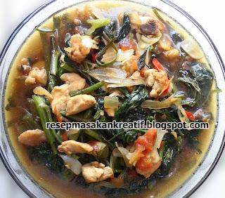 Resep Cah Kangkung Daging Ayam
