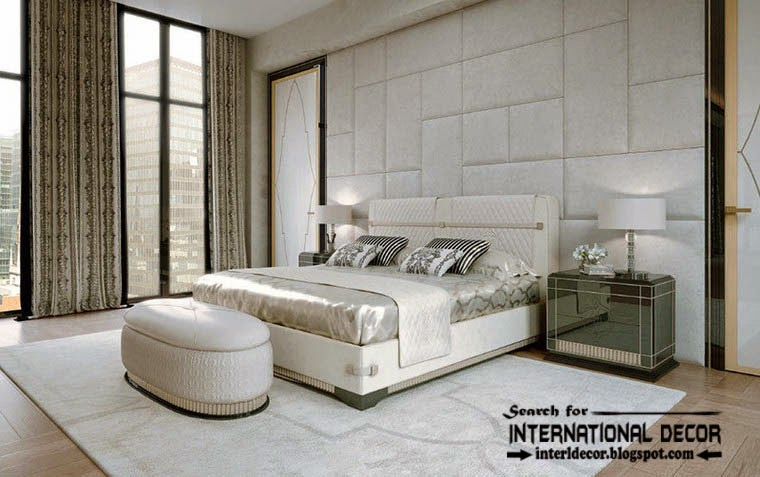art deco bedroom interior design and furniture white bedrooms with wall panel