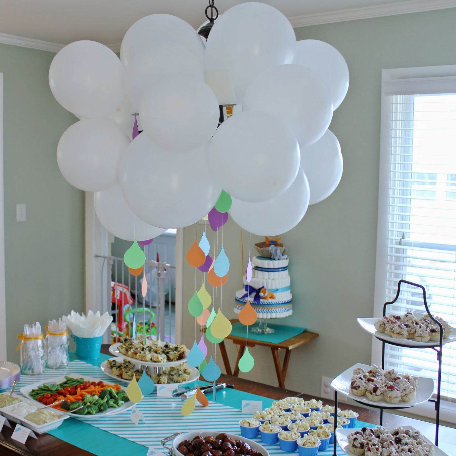 Organized chaos april showers baby shower for Baby shower theme decoration