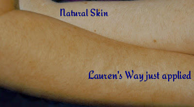 Lauren's way - False tan - Fake tan - Dark tan - Self tan - Self tan bronzing lotion -  comparison - results - swatches - Lauren Goodger