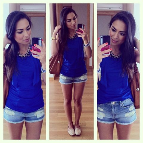DANIELA PIRES, DENIM SHORTS, ZARA, SUMMER STYLE, STREET STYLE, FASHION BLOGGER, SLIPPERS, TREND