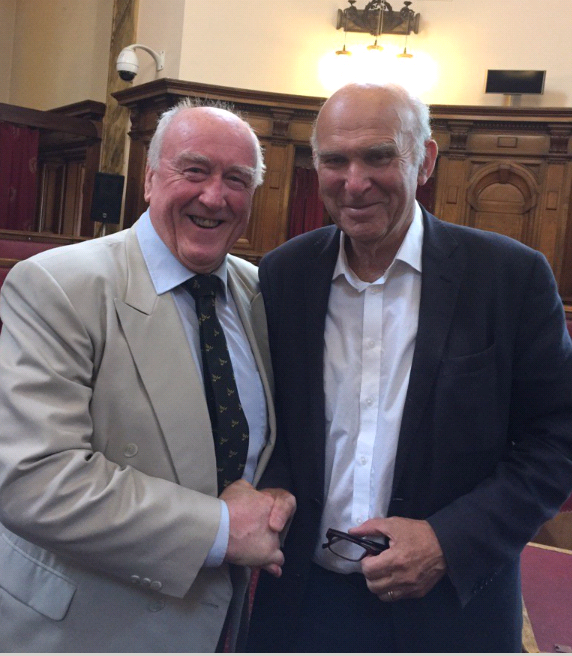 Gwynoro with Vince Cable
