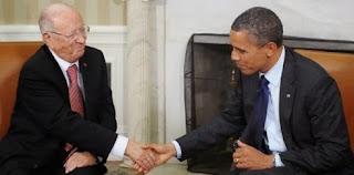 Béji Caïd Essebsi en visite à la Maison Blanche le 21 mai