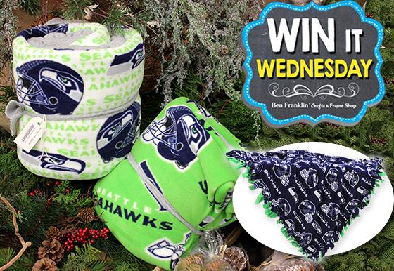 Win a Seahawks Fleece Blanket Kit - value $45.99