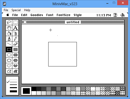 ... , MacPaint and The Print Shop, a banner/letter/card printing utility: http://minhdanh2002.blogspot.com/2013/08/exploring-old-mac-software-on-mini-vmac.html