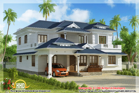 4 bedroom 3074 square feet kerala home design - May 2012