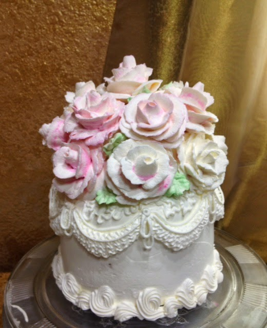 Cake Decoration Roses : Frosted Art: Giant Buttercream Rose Wedding Cake Topper ...