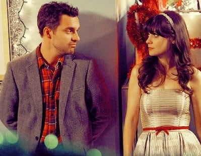 pareja serie new girl