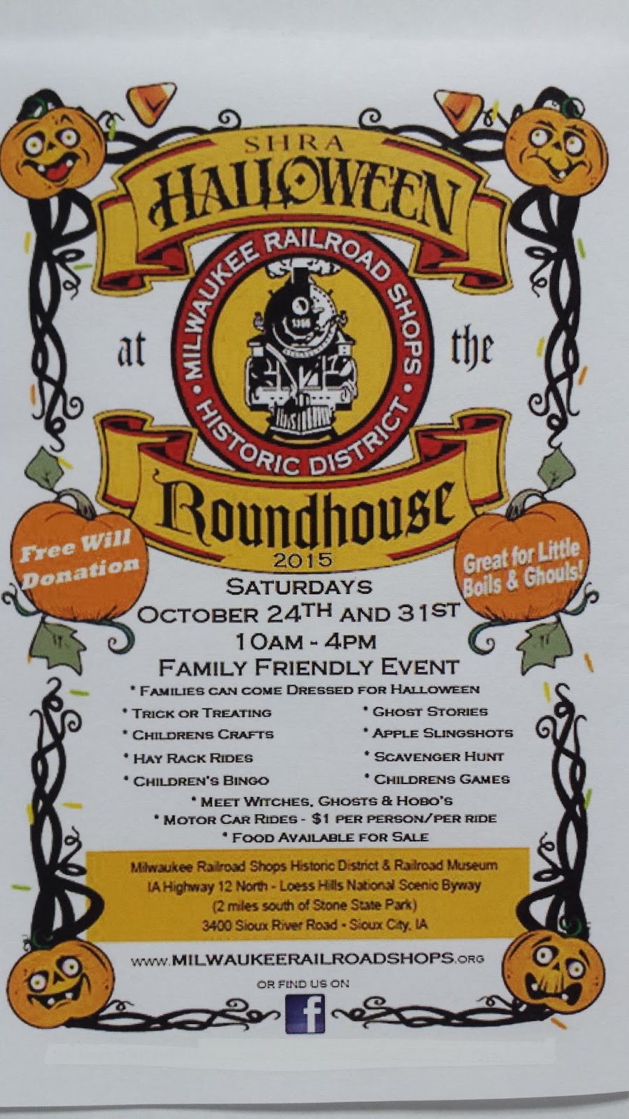 halloween at the roundhouse event will be held the last two saturdays of october this year - Halloween Date This Year