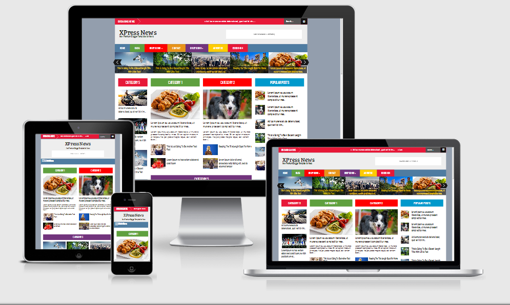 Xpress Responsive Magazine Blogger Templates - Blog Tutorial