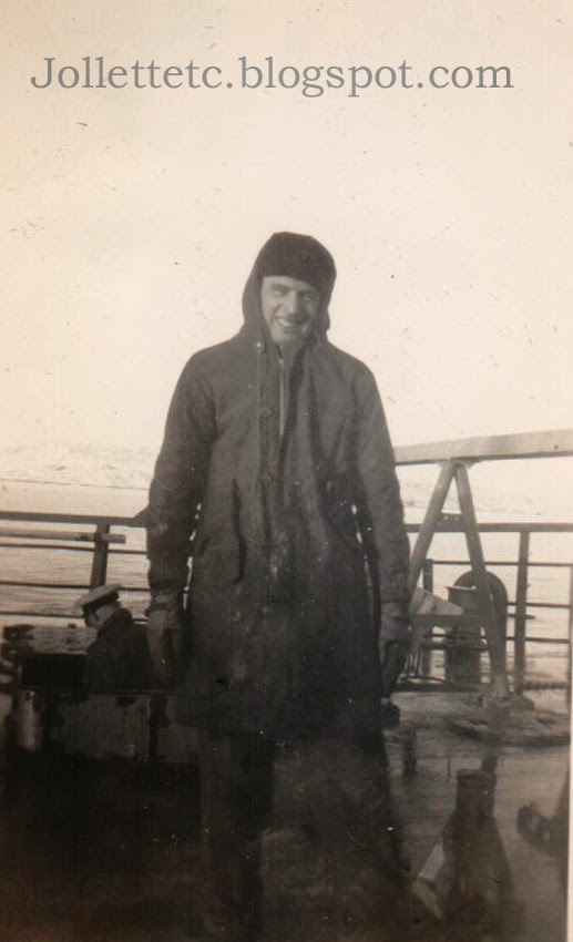 Unknown sailor on USCGC Eastwind 1946 or 47  http://jollettetc.blogspot.com