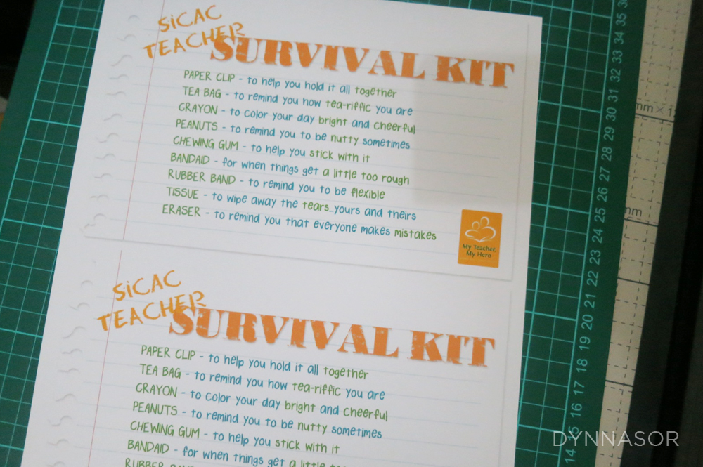 Dynnasor: DIY: Teacher Survival Kit