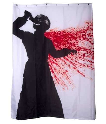 Gafunkyfarmhouse this 39 n that thursdays the halloween for Psycho shower curtain and bath mat