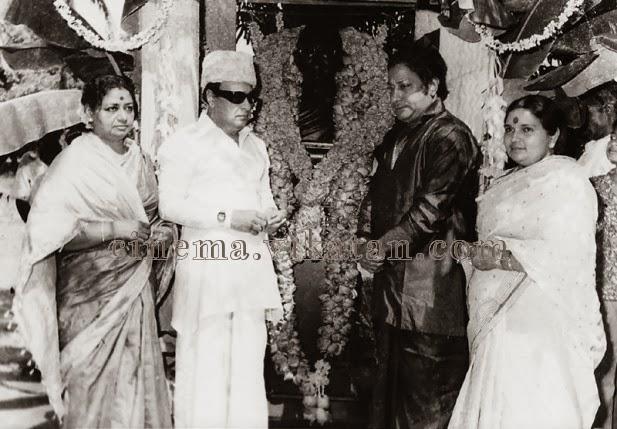Mr. & Mrs 'Makkal Thilagam' with Mr. & Mrs 'Nadigar Thilagam' in Annai illam Function