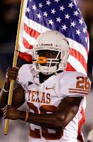 Texas Longhorns football American flag