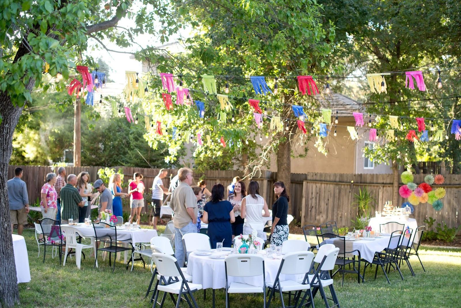 Domestic Fashionista Colorful Backyard Birthday Soiree