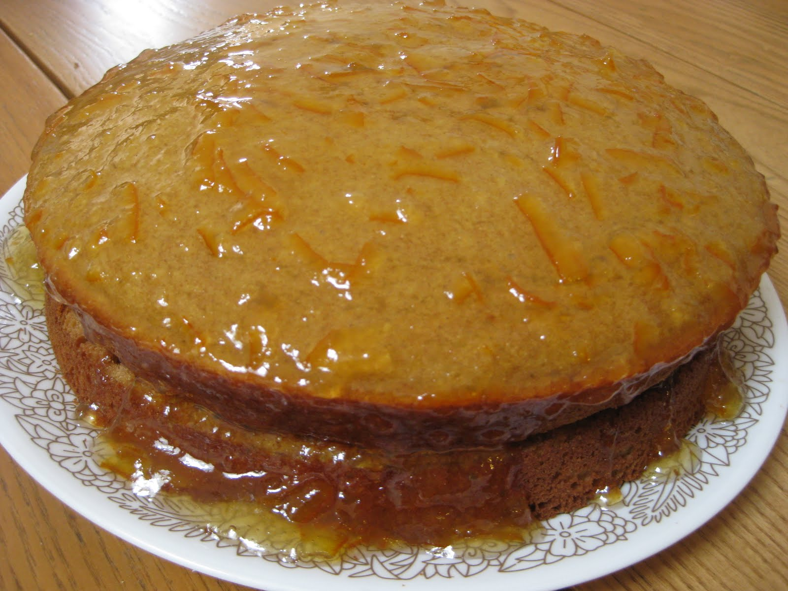 GO GO ZO: sticky orange cake with marmalade glaze (for breakfast)