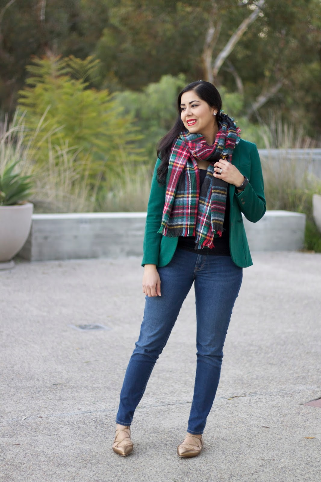 Plaid scarf outfit, target plaid scarf, Christmas in San Diego, San Diego Fashion Blogger, San Diego Style Bloggers