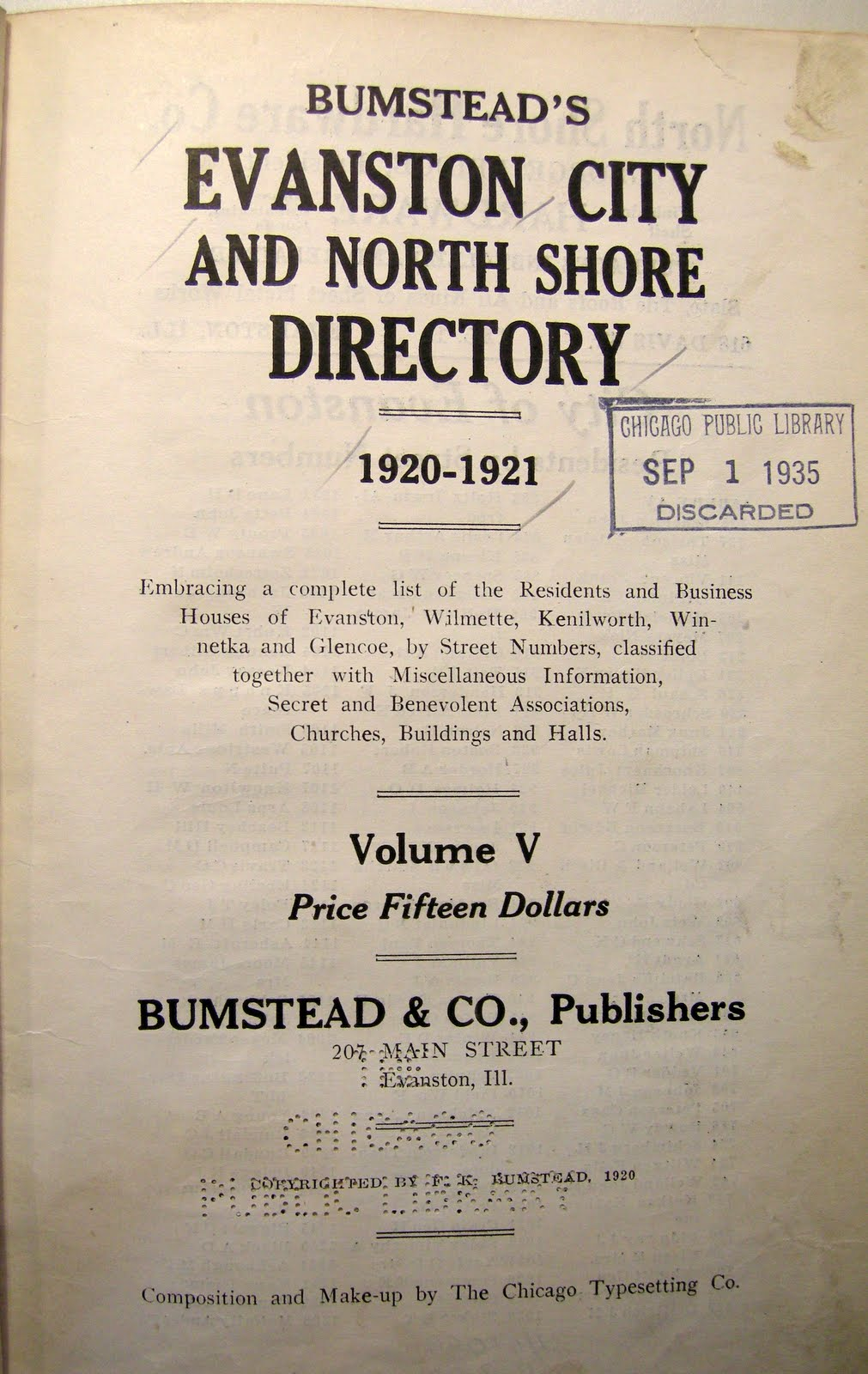 pages from the evanston illinois city directory 1920 21