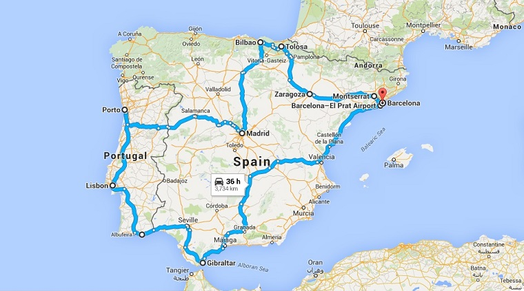 The Perry SpainPortugal Day Thursday March Hong - Portugal map google
