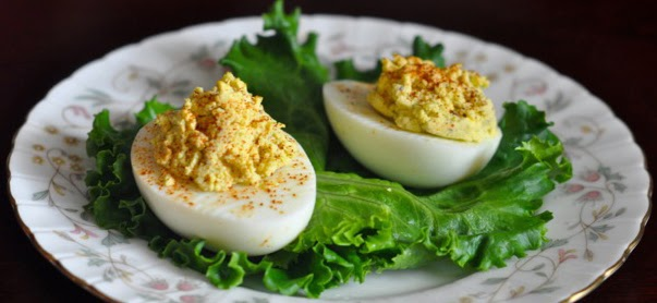 Receta : Huevos rellenos con curry