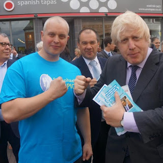 Stewart Mackay with Boris Johnson for St. Raphael's