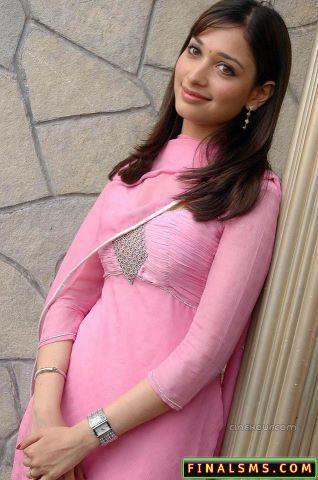 My Actress: Tamanna Bhatia pink dress hot stills
