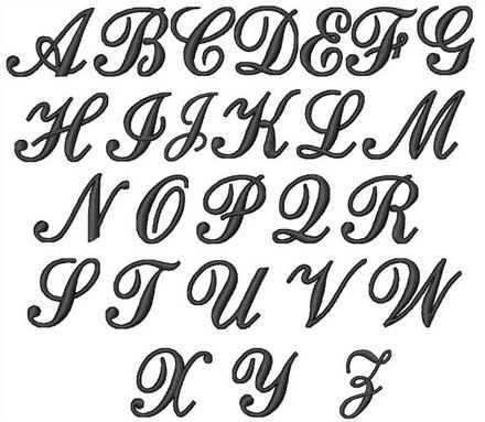 Elegant Script Graffiti Alphabet Monogram Can You Take Advantage Of Design And Style Letters As An Example To Make