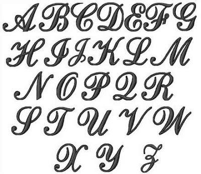Cursive Bubble Letters Alphabet