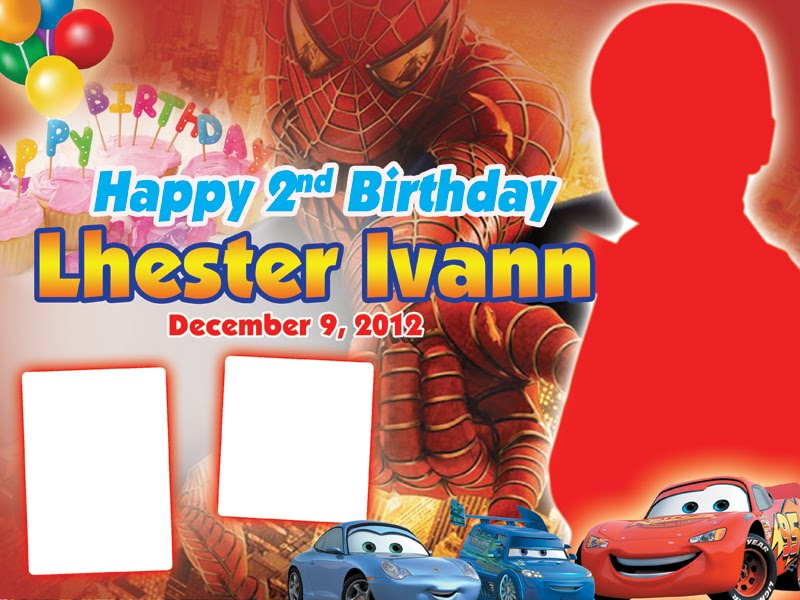 Spider Man Birthday Layout Customizeprintshop
