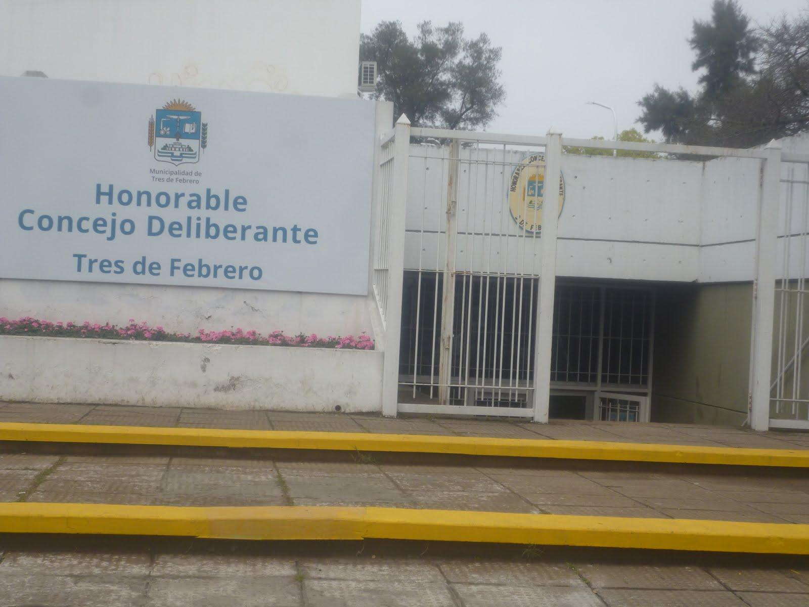 FRENTE DEL NUIEVO HONORABLE CONCEJO DELIBERANTE