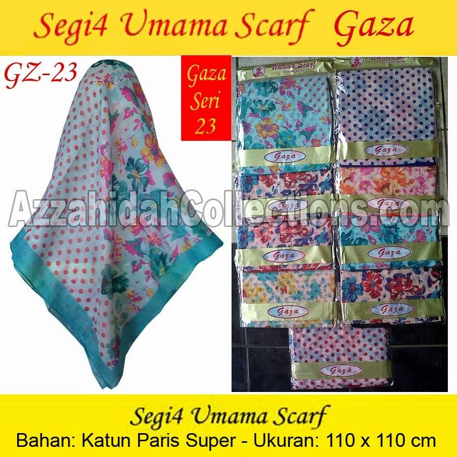 Segi Empat Umama Scarf Gaza - azzahidahcollections.com