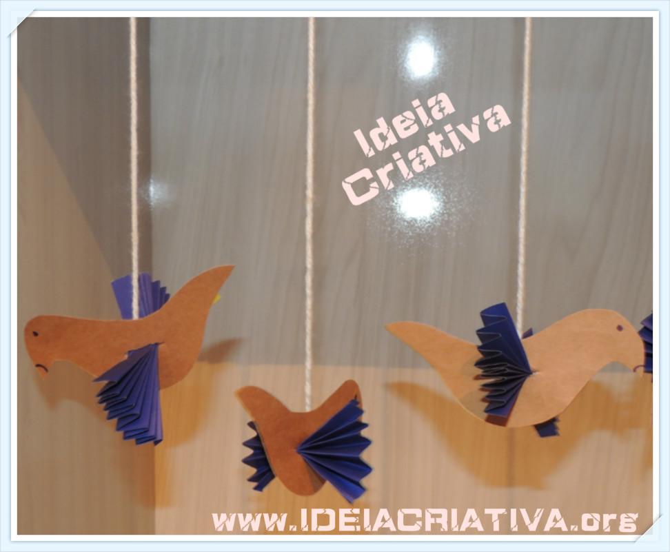 Aprenda a fazer passarinhos decorativos Ornamentação de Primaveril