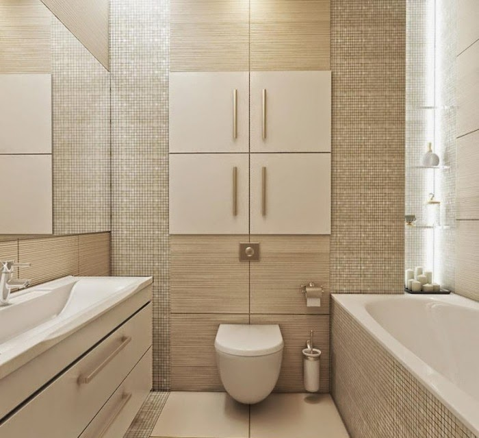 bathroom tile design ideas for small bathrooms mosaic tiles in beige