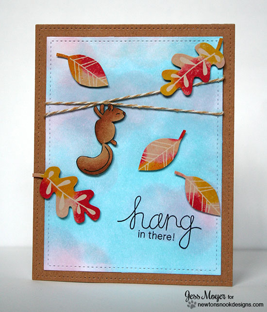 Hang in there Card and Video with Jess Moyer for Newton's Nook Designs | Hanging Around and Falling into Autumn Stamp Sets