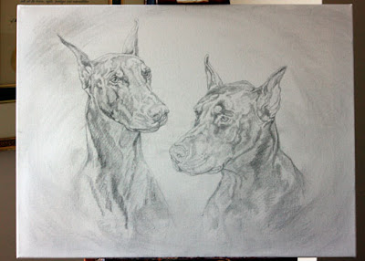 pet portrait sketch by Lori Levin