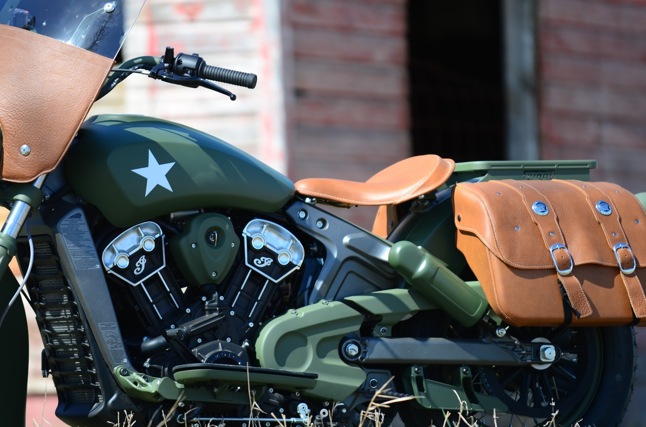 Racing Caf U00e8  Indian  U0026quot Custom Military Scout U0026quot  By Klock Werks