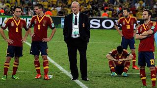 Derrota de España en la final ante Brasil en Maracaná