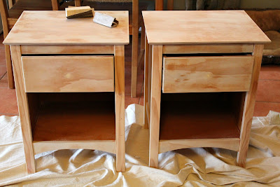 sanded nightstands