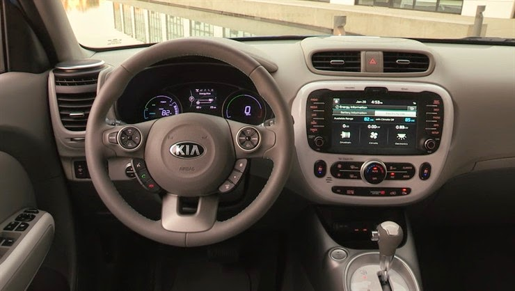 Interior view of 2015 Kia Soul