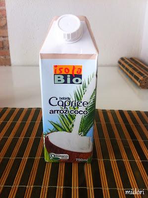 Beguda d'arròs i coco