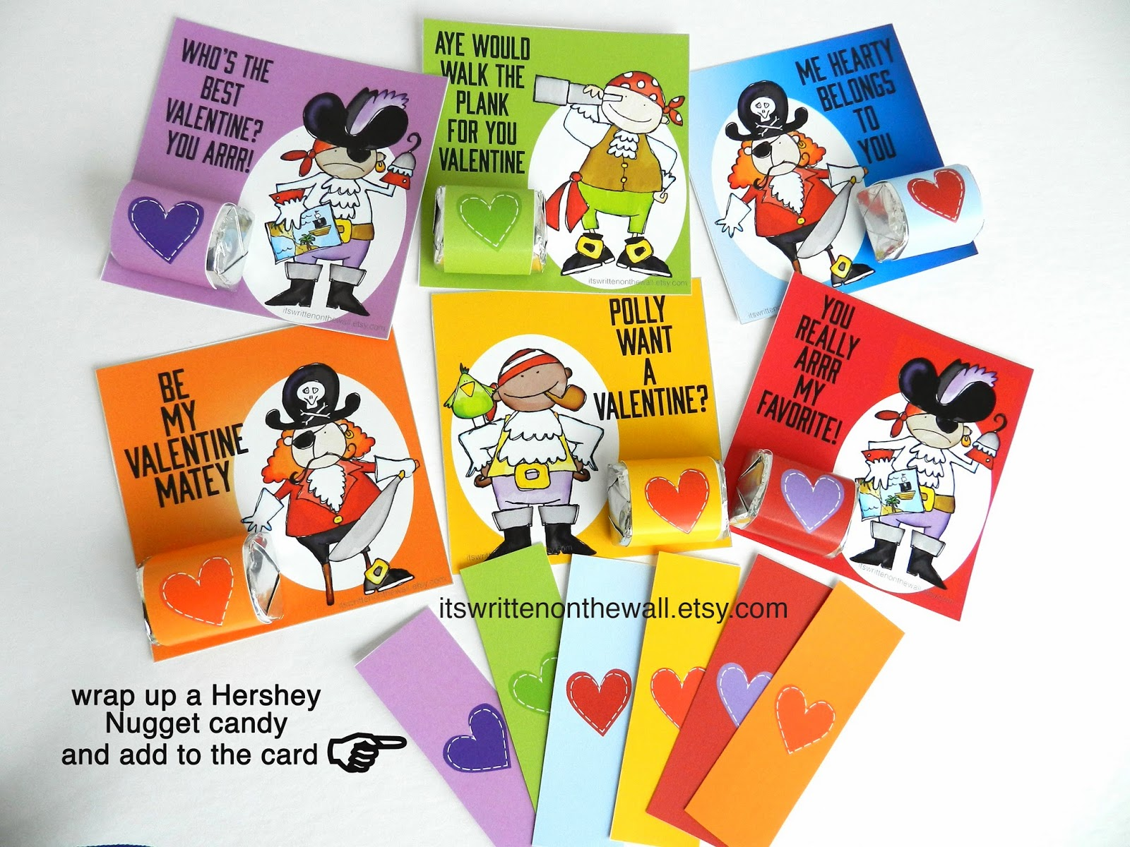 Pirate Valentine Cards