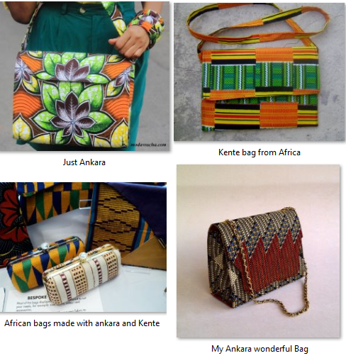 African bags made from ankara